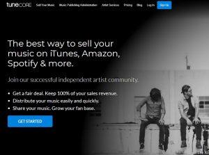 como divulgar música na internet tunecore